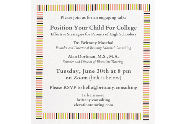 Reminder! Online Event for Parents Tomorrow, 6/30