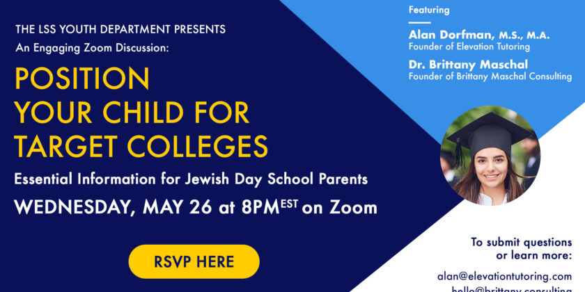 Online Event for Parents: Navigating the College Process, Preparing for SAT/ACT, Raising Scores & Reducing Stress